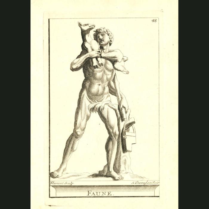 Fine art print for sale. Faune Statue