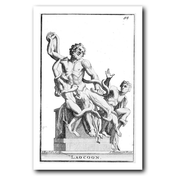 Fine art print for sale. Laocoon and Sea Serpents
