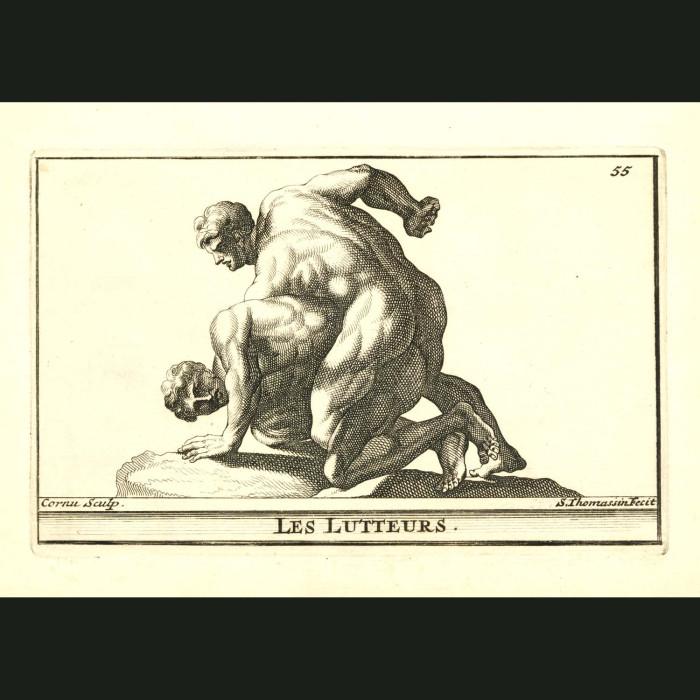 Fine art print for sale. Wrestlers - Les Lutteurs