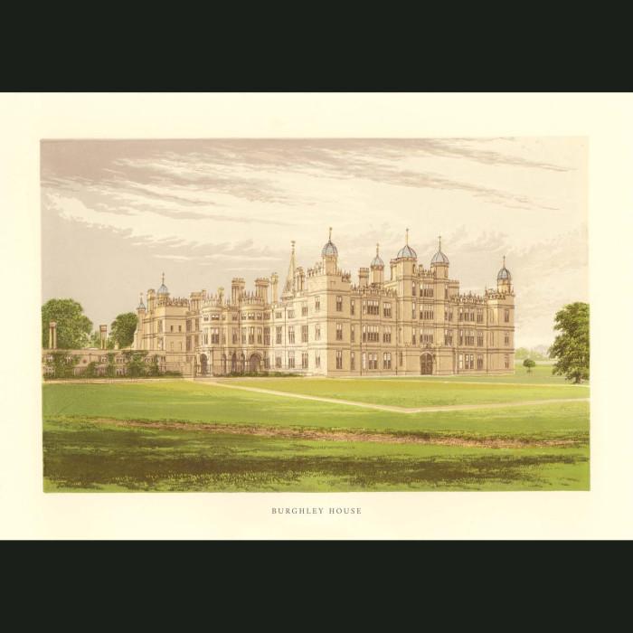 Fine art print for sale. Burghley House