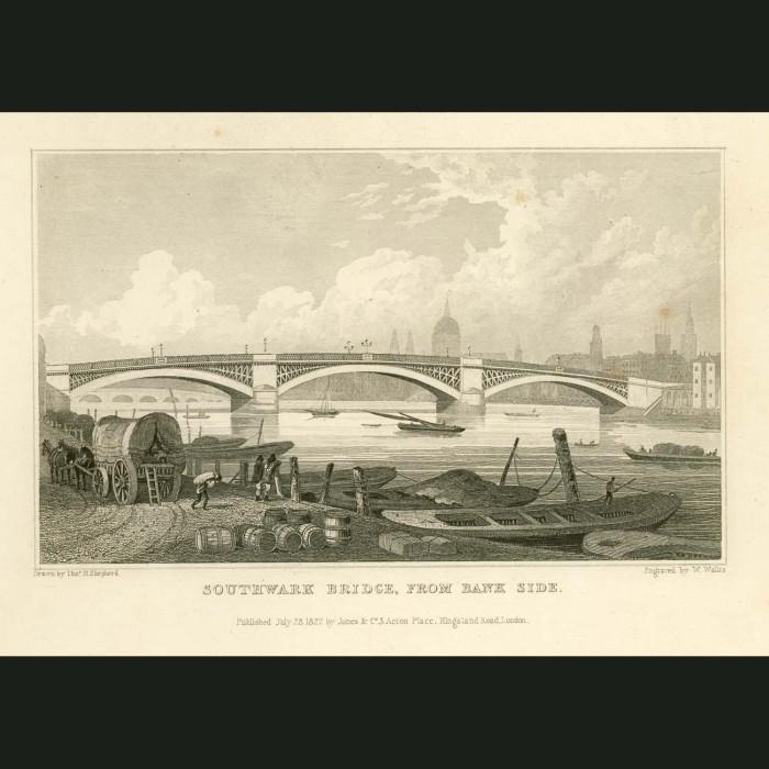 Fine art print for sale. Southwark Bridge