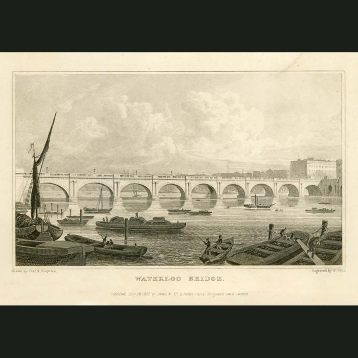 Fine art print for sale. Waterloo Bridge