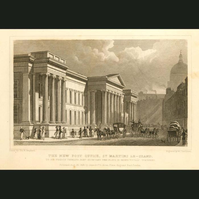 Fine art print for sale. New Post Office, St.Martin's Le-Grand