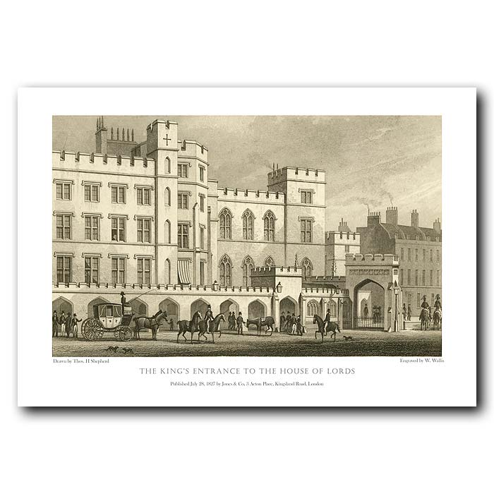 Fine art print for sale. Kings Entrance to the House of Lords