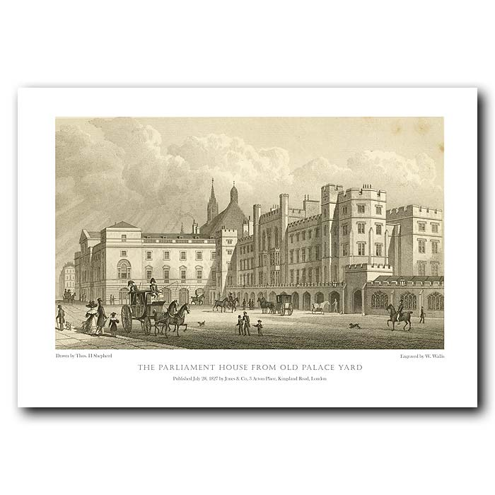 Fine art print for sale. Parliament House from Palace Yard