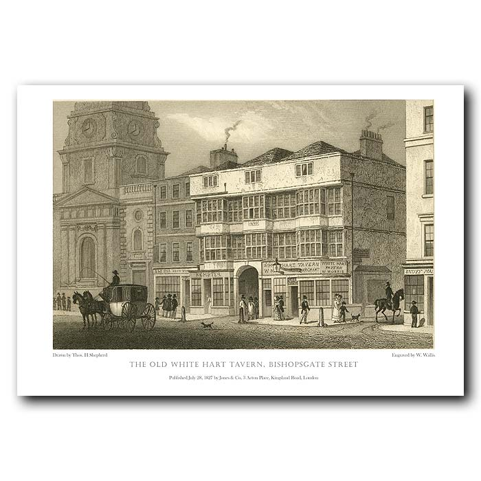 Fine art print for sale. The White Hart Tavern