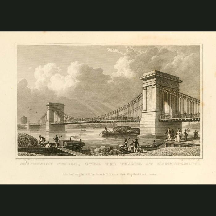 Fine art print for sale. Suspension Bridge